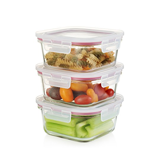 The Reusable And Extremely Durable Square Containers Are Made Of Highly  Durable Borosilicate Glass With Polypropylene Lids Which Open And Close In  A Snap.