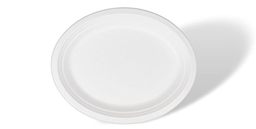 Bagasse tableware is cut resistant and does not accidentally puncture easily. It can even handle the messiest of menu items thanks to its oil proof design.  sc 1 st  ShoppyHop & Brheez Heavy Duty Plates 100% Natural Sugarcane Biodegradable ...