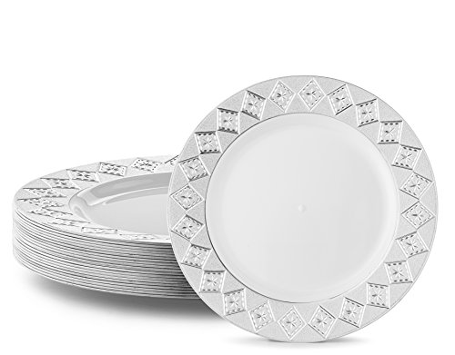 VINTAGE PLASTIC PARTY DISPOSABLE PLATES | 6 Inch Hard Round Wedding ...