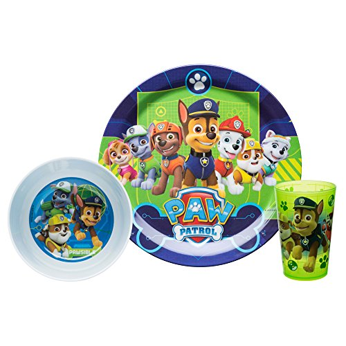 Zak Designs Paw Patrol Divided Plate Fork And Spoon Set