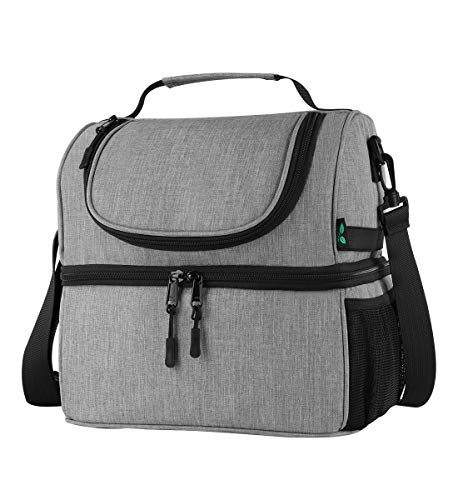 74f480fb5d41 F40C4TMP Lunch Box Insulated Double Deck Lunch Bag for Men Women, 12 ...